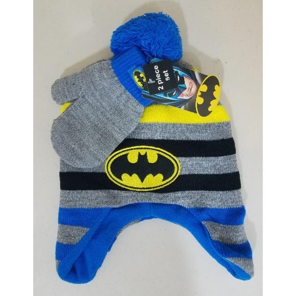 DC Comics BATMAN Winter Hat Beanie /& Mittens ~ TODDLER ~ NWT